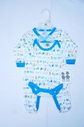02 Pack Sleepsuit & Bodysuit With Hanger Pack
