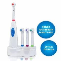 Electric Toothbrush with 4 Brush Heads and Storage Stand