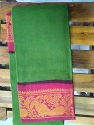 Casual Wear Handloom Handdyed Sungudi Saree With Zari Border