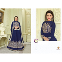 Embroidered Full Sleeve Floor Length Suit For Ladies