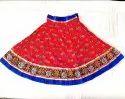 Indian Cotton Block Printed Cotton - Navratri Special Kutchhi Border - Gamthi Skirt