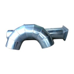 Silver Stainless Steel SS Round Air Duct