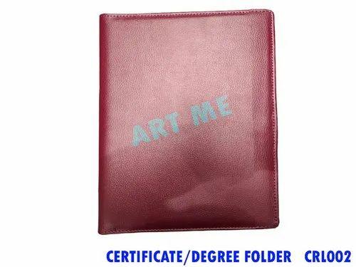 Leather Vertical Certificate Folder