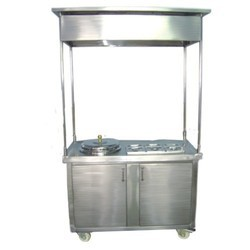 Stainless Steel Sweet Corn Trolley, For Hotel, Restaurant, Etc