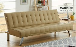 Stainless Steel Cardiff Beige Sofa for Home