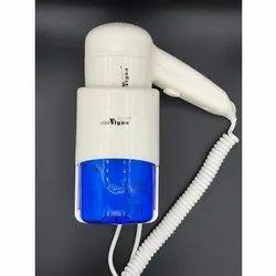白色和蓝色塑料壁挂式专业吹风机