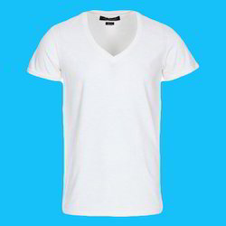 Cotton Man V Neck Half Sleeve T-Shirt