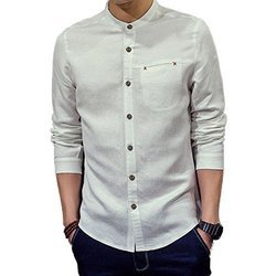 White Chinese Mens Shirt