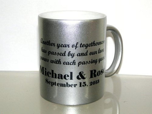 473d7b817e6 Metallic Silver Ceramic Sublimation Mug, Sublimation Cups ...