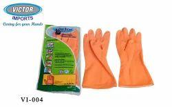 Plain Unisex Household Latex Hand Gloves