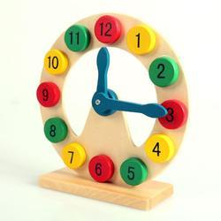 Mix Colors Montessori World Wood Toy Clock