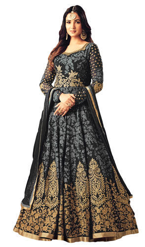 2a8b923c6b Georgette Embroidered Wedding Party Wear Stylish Anarkali Suits, Rs ...