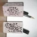 Handmade  Decorative Soapstone Pencil And Pen Holder