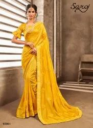 Yellow Color Vichtira Silk Saree