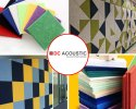 Multi Color Polyester Fiber Sound Proof Panel