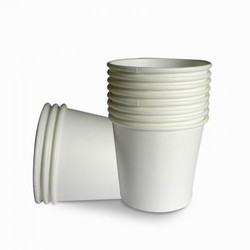 White Paper Insulated Disposable Cup