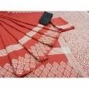 Cotton Sanganeri Hand Block Printed Party Wear Saree, 6.3 m (with blouse piece)
