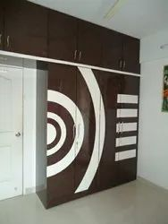 Brown Wooden Bedroom Wardrobe