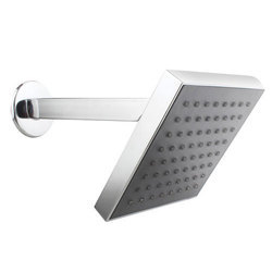 Silver Steel Wall Mounted Shower