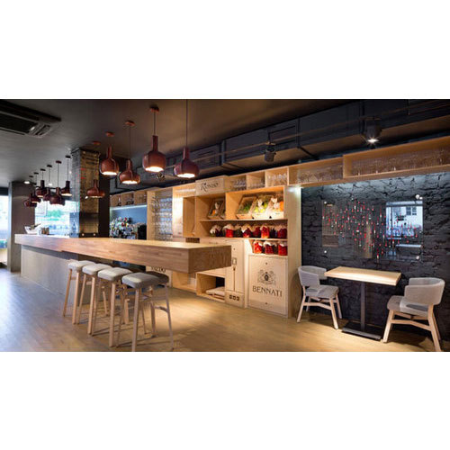 Cafe Interior Designing Service in Rohini, Delhi, Kraft Realtech ...