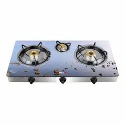 IBL 366 ASG D Glass Top 3 Burner Gas Stove for Kitchen