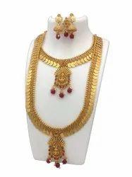 Karishma Kreations Gold Plated Laxmi Temple Jewellery Set Combo 14
