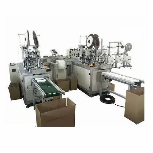 Non Woven Fabric High Speed Automatic Mask Making Machine with double  online loop, Capacity: 6000 Per Hour, A3PT, Rs 6500000 /unit | ID:  22047623688
