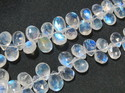 AAA Grade Rainbow Moonstone Faceted Briolette Stone Beads