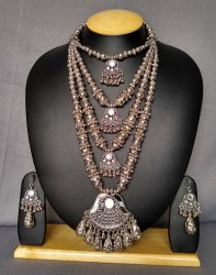 Oxidized Necklace Set