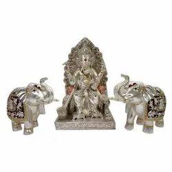 Antique Resin Ganesh Statue
