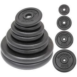 Stainless steel, Rubber weight plates, weight : 5 kg