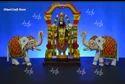 Kondapalli Lord Balaji With White Elephants Wood Crafts