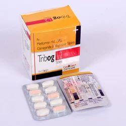 Glimeride 1 Mg, Voglibose 0.2 Mg, Metformin 500 Mg (sr) Tablets