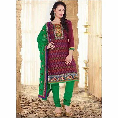 48406004af Multi-Color Cotton Churidar Salwar Kameez, Rs 750 /piece   ID ...