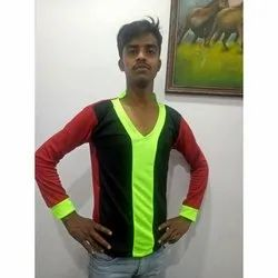 Polyester Mens Full Sleeve Cotton T Shirt, Size: S-XXL