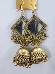 Golden Mirror Earings