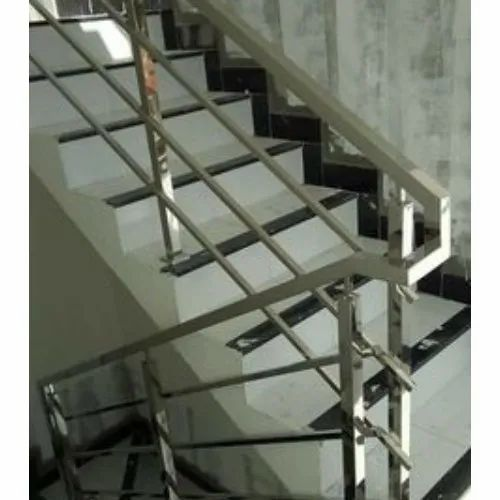 Polished Balcony & Stairs Square Pipe Railings For ...