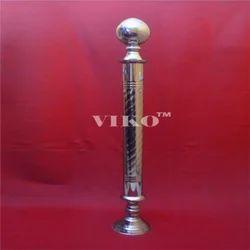 Stainless Steel  Single Rajwadi Railing Pillar