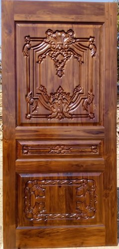 Carved Teak Wood Door CNC Design