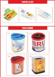 Globe Plastic Paper Clip & Pen Stand for Promotional