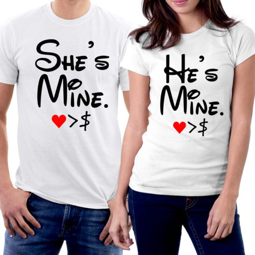 25bba791 Printed Couples Slogan T Shirt, Rs 160 /piece, Treed Company | ID ...