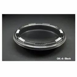 OK-4-Black Plastic Container