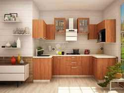 Lacquer And Acrylic Residential Kitchen Interior, Backsplash And Faucet