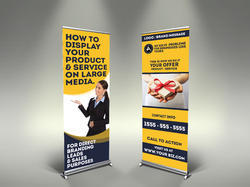 Rollup Banner Stands, Size: 6'x2.5' 6. 5'x2.5' 6'x3'