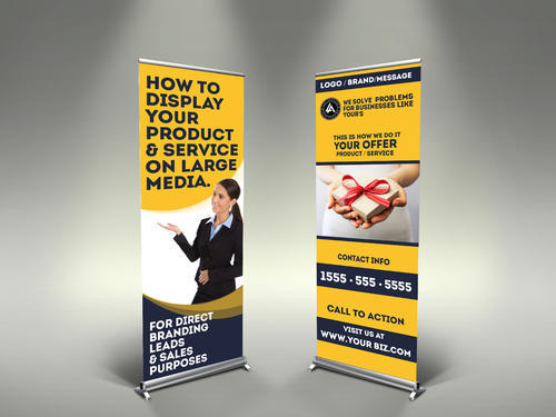 Rollup Banner Stands, Size: 6' x2.5'  6. 5' x2.5'  6' x3'