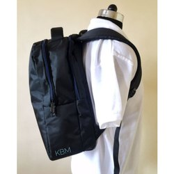 Black Plain Shoulder Backpack
