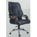 Black Leather Office Revolving Chair
