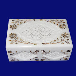 Decorative Marble Inlay Box
