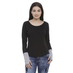 Ladies Cotton Thumbhole T-Shirt