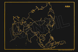 Asia ( with Countries) For Geographical Outline Map
